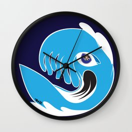 Waveboarder Smiley Wall Clock