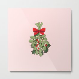 Under the Mistletoe Metal Print