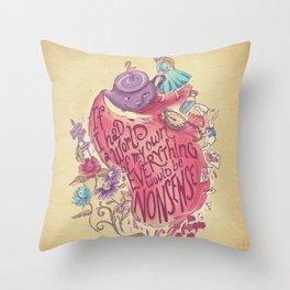 Lewis Carroll Throw Pillow