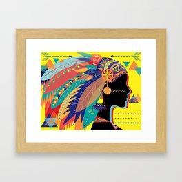 Native Indian Framed Art Print