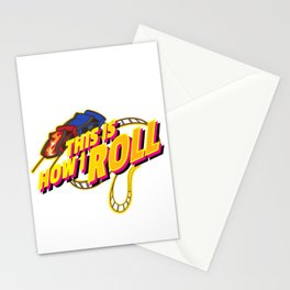 Rollercoaster Roll design - Funny Amusement Theme Park Ride Stationery Cards