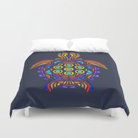 turtle Duvet Covers featuring Turtle by ArtLovePassion