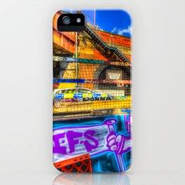 Leake Street and Police Car iPhone Case