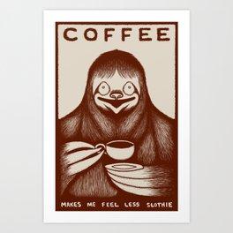 Coffee Sloth Art Print