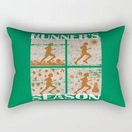 Runner's Season Running Jogging Lover Gift Rectangular Pillow