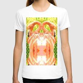 Flamingo illustration versus illustrated flamingo T-shirt