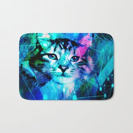 Kitty Cat Laser Lights at the Aleurorave Bath Mat
