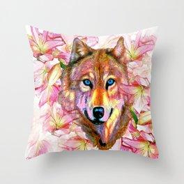 Wolf #66 Throw Pillow