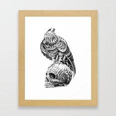 Red-Tail Skull Framed Art Print