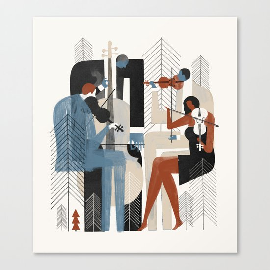 Aspen Music Canvas Print