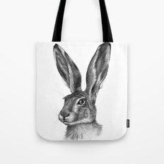 Cute Hare portrait G126 Tote Bag