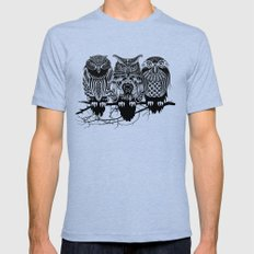 Owls of the Nile LARGE Tri-Blue Mens Fitted Tee