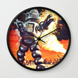 The Invisible Boy, 1957 (Vintage Movie Poster) Wall Clock