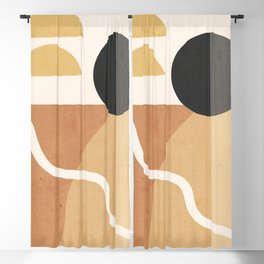 Minimal Abstract Shapes 41 Blackout Curtain