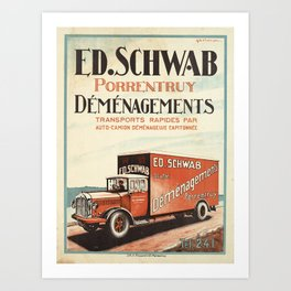 Advertisement ed schwab demenagements porentruy Art Print