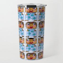 Matzo Boy and Matzo Girl together for Hanukkah! Travel Mug