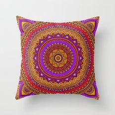 Hippie mandala 51 Throw Pillow