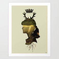 New Fawn Glory Art Print