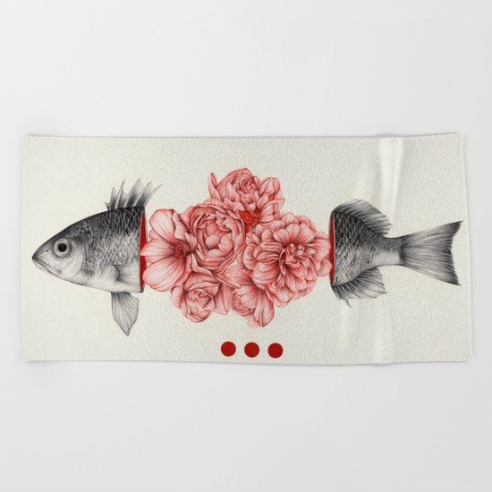 To Bloom Not Bleed Beach Towel