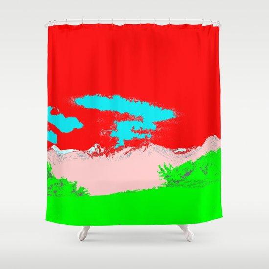 Ice Cream Mountain Shower Curtain