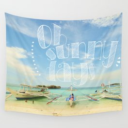 Oh Sunny Days Wall Tapestry
