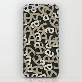 Letter A Gray iPhone Skin