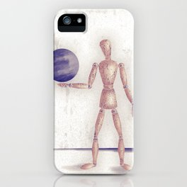 Man With A Globe iPhone Case