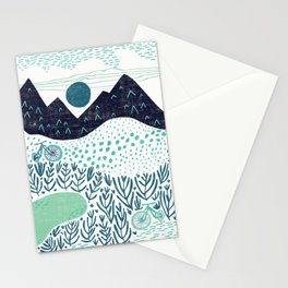 Mountain Biking - The Gravel Path Less Traveled Stationery Cards