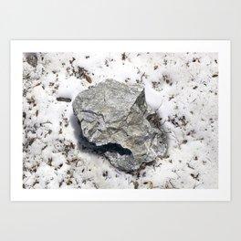STONES SNOW NUGGET Art Print