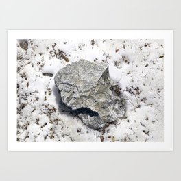 STONES SNOW NUGGET Art Print