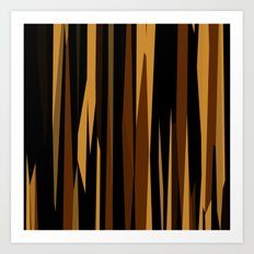Golden Wood Grain Dark Art Print
