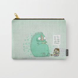 Monster and Tea Carry-All Pouch