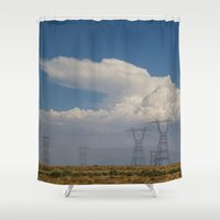 giants Shower Curtains featuring Giants by Claire Laminen Photo