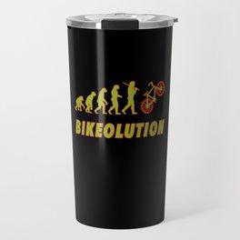 Bikeolution Evolution for bike rider and downhill Travel Mug
