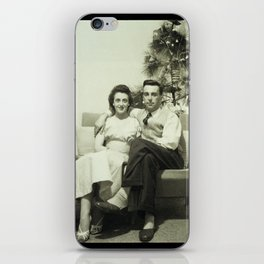 Merry Christmas from us to you, from past to present iPhone Skin