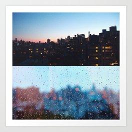 New York Droplets  Art Print