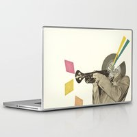 death note Laptop & iPad Skins featuring Blue Note by Cassia Beck