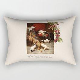 Pet Lover Christmas Greeteengs Rectangular Pillow