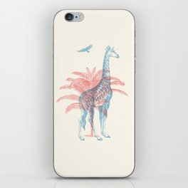 Giraffe - Where they Belong iPhone Skin