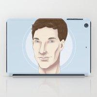 benedict cumberbatch iPad Cases featuring Benedict Cumberbatch Sketch by CrystallineColey