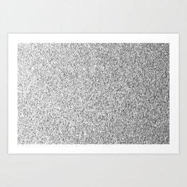 Beautiful Silver glitter sparkles Art Print