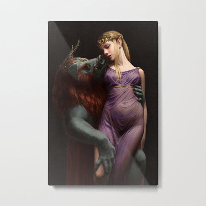 The Beast and The Princess Metal Print