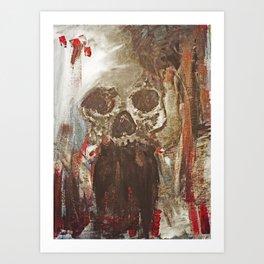Happy Skull Art Print