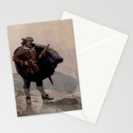 """""""Billy Bones"""" Pirate Painting by NC Wyeth Stationery Cards"""