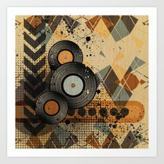 Retro Vinyl. Art Print