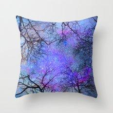 Sky dreams. Serial. Blue Throw Pillow