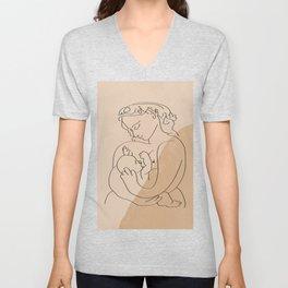 Picasso - breast feeding Unisex V-Neck