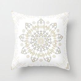 Snow Deco Throw Pillow