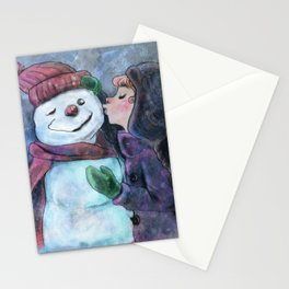 Kiss a snowman Stationery Cards