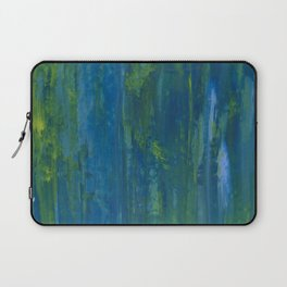 Push & Pull - Abstract in Blue, Yellow, Green Laptop Sleeve